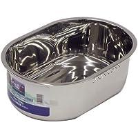 パール金属 アクアシャイン ステンレス製 スリム小判型 洗桶 34×23cm H-6290