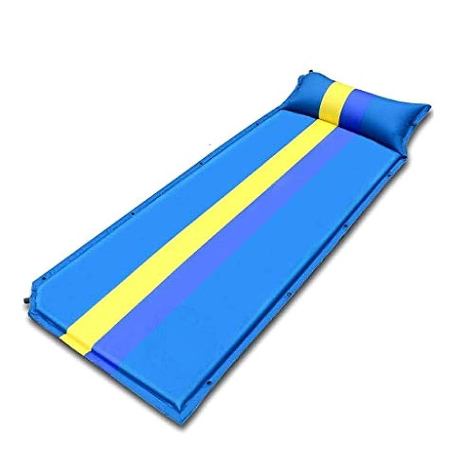 多くの危険がある状況ハイライトミットZAQXSW 単色の一致の膨脹可能なクッションの屋外の高度の自動膨脹可能なクッション (Color : Blue)