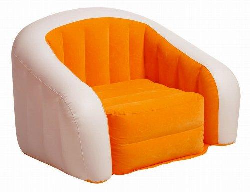 INTEX(インテックス) カフェクラブチェアー 76×97×69cm オレンジ×ホワイト [日本正規品] 23392