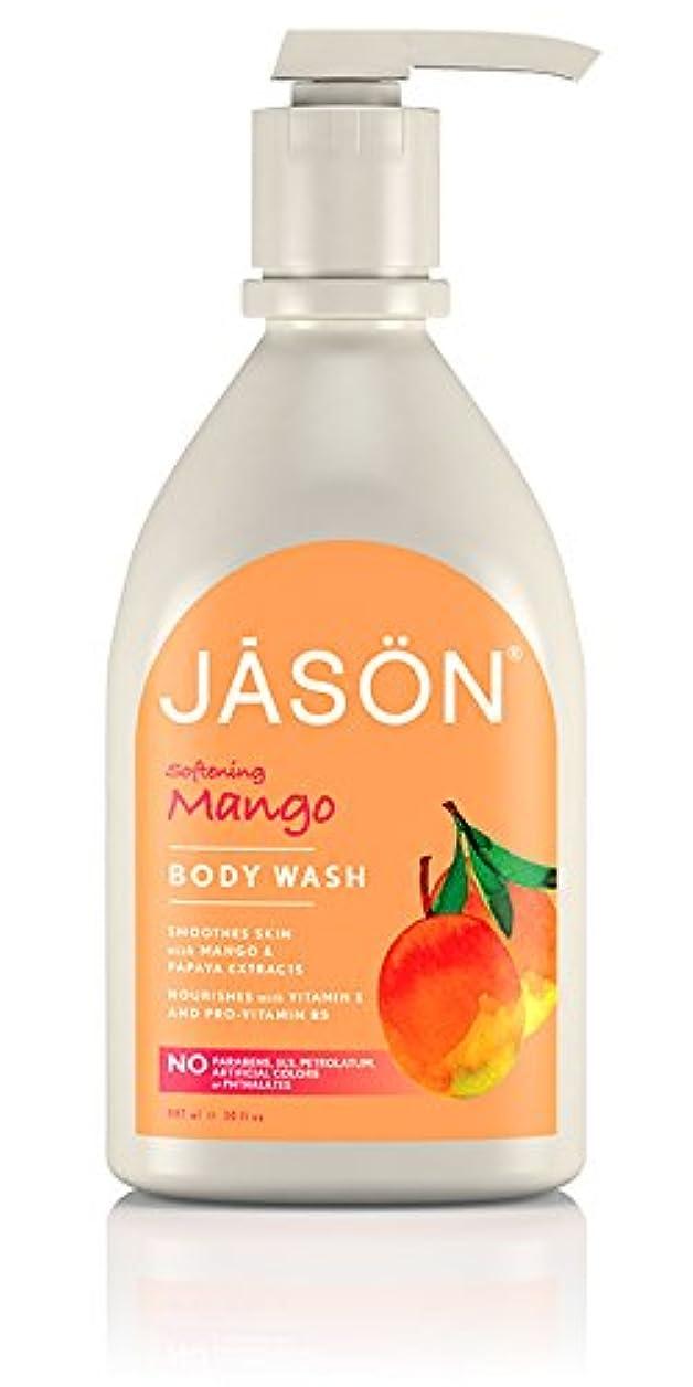 崖寛解ペグJason Natural Products Satin Shower Body Wash Natural Mango & Papaya 887 ml (並行輸入品)