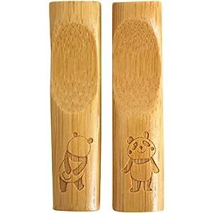 ふりふりパンダ 竹製箸置き2個セット パンダ