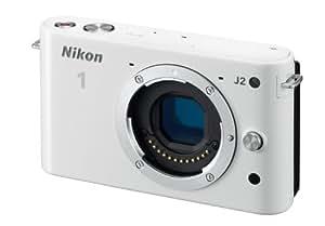 Nikon ミラーレス一眼 Nikon 1 J2 ボディー ホワイト N1J2WH
