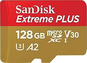 サンディスク ( SANDISK ) 128GB microSD Extreme R=100MB/s W=90MB/s SDアダプタ付き [海外パッケージ] SDSQXAF-128-GN6MA