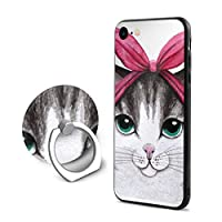 カンナ インディーダ 猫 弓 IPhoneケース IPhone 7/8用 携帯電話 スマホ カバー スマホケース IPhoneカバー 耐衝撃 軽量 シンプル ケース おしゃれ スマートフォン フィンガーリング付き リング付き