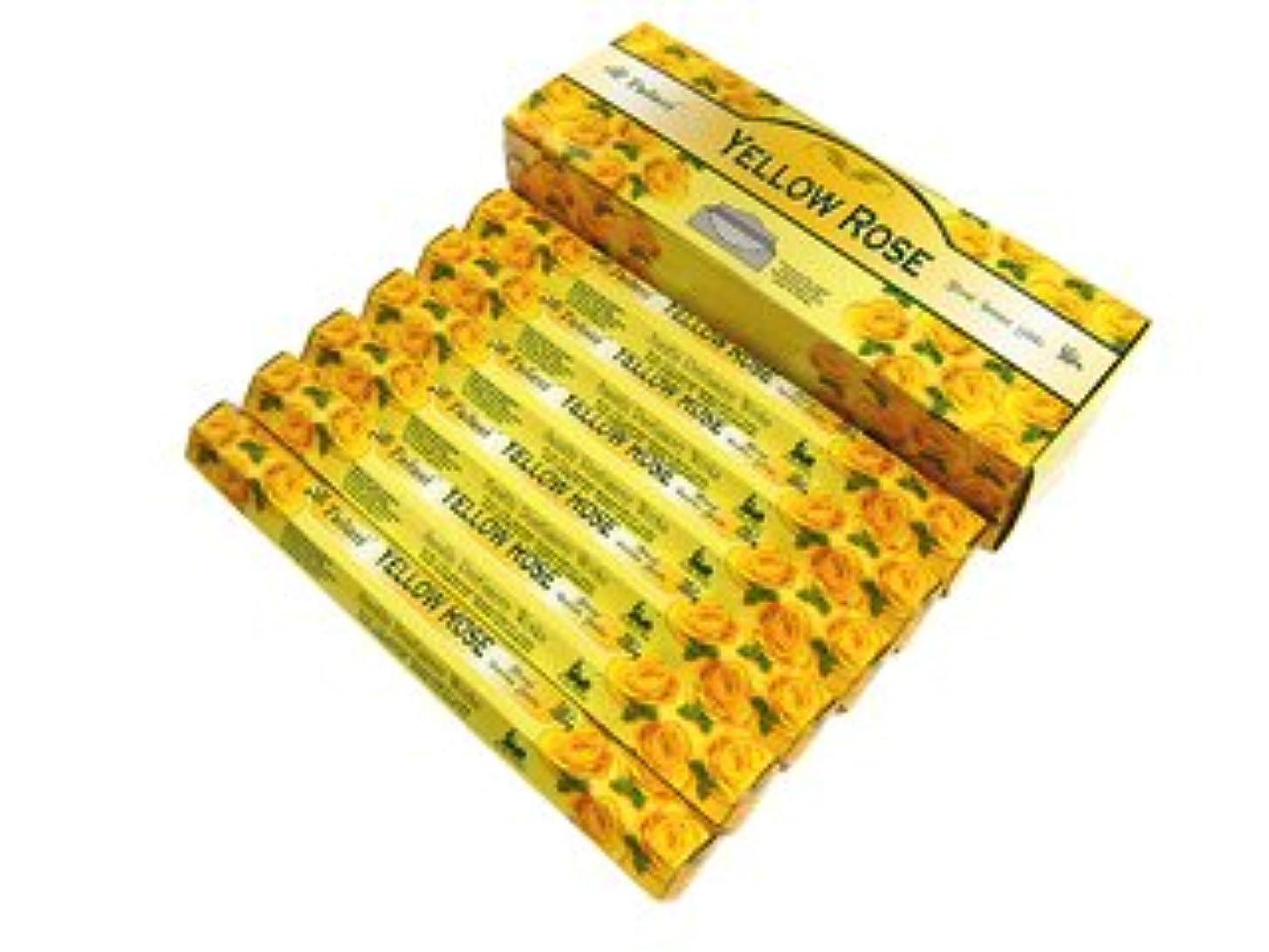 温度計スリップシューズ現代TULASI(トゥラシ) イエローローズ香 スティック YELLOW ROSE 6箱セット