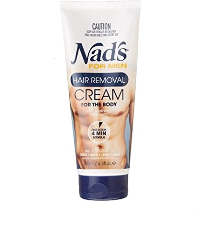 煩わしいそばに恐怖症Nad's【ナッズ / メンズ用 ボディ脱毛クリーム / チューブタイプ / 200ml】【並行輸入品】