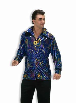 Dynomite Dude Disco Shirt Adult Costume Dynomiteデュードディスコシャツ大人用コスチューム♪ハロウィン♪サイズ:Standard