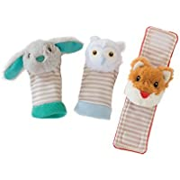 Manhattan Toy Woodland Babies Foot Finders & Wrist Rattle Set [並行輸入品]