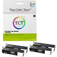 True Colorトナー980X Lブラック4パック高Yield互換インクカートリッジd8j10a 980XL Replacement for HP Officejet Enterprise MFPフローm585z m585dn m585F x555dn x555X Hプリンタ( 10, 000ページ)