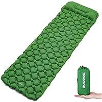 SGODDE エアーベッド キャンピングマット エアピロー付き式 テントマット アウトドア 折り畳み 軽量 防水 収納袋付き
