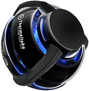 THERMALTAKE GOrb II NB Cooler/70mm*2/blue LED/black コンパクトノートブッククーラー 日本正規代理店品 HS1045 CLN0032