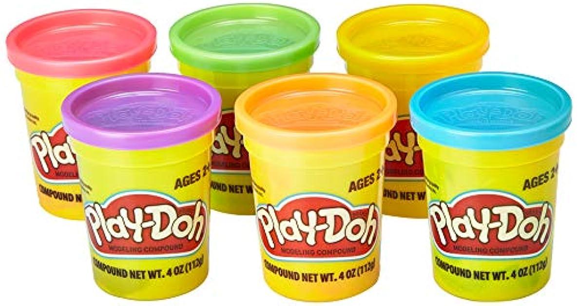 Play-Doh アソートカラー (6個パック) 非毒性モデリングコンパウンド 4オンス缶 キッズ用おもちゃ コレクションプレイセット ブルー レッド オレンジ パープル その他 ガールズ ボーイズ