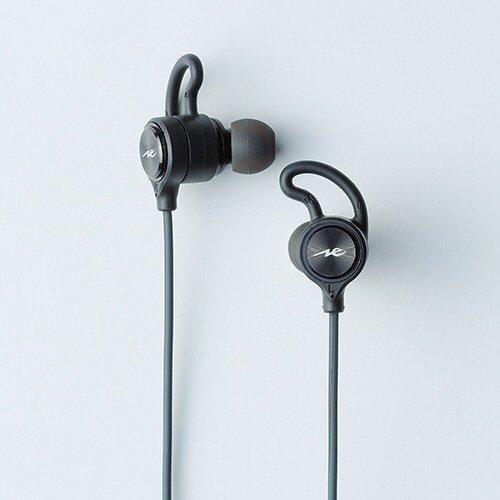 ラディウス ブルートゥースイヤホン カナル型 重低音 HP-G100BTK ブラック  防水 /Bluetooth
