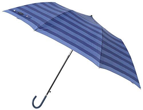 mabu(マブ) レディース おしゃれ ラクジャン 55cm 折りたたみジャンプ傘 (ネイビーストライプ)