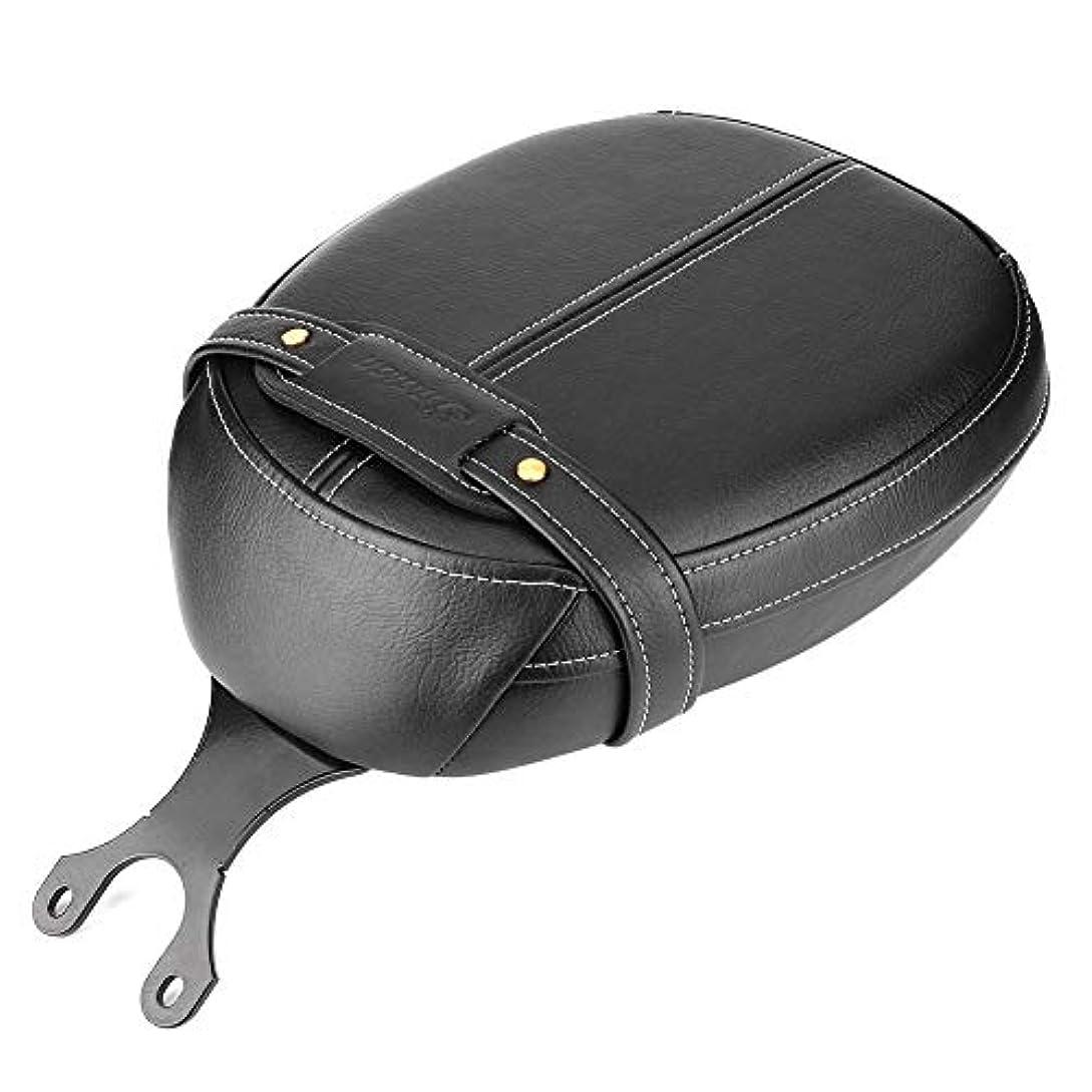 ほぼインタネットを見る化合物Qiiluオートバイサドルスタイリッシュなサドルオートバイシートクッションパッドシンプルな取り付けスカウト2015-2020((Black Rear Saddle))