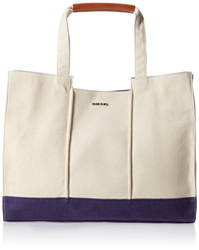 (ディーゼル) DIESEL メンズ コットンxレザー トートバッグ X-BREAKERULES F-BREAKE DOWN TOTE - shopping bag X05117PR012 H6520 UNI