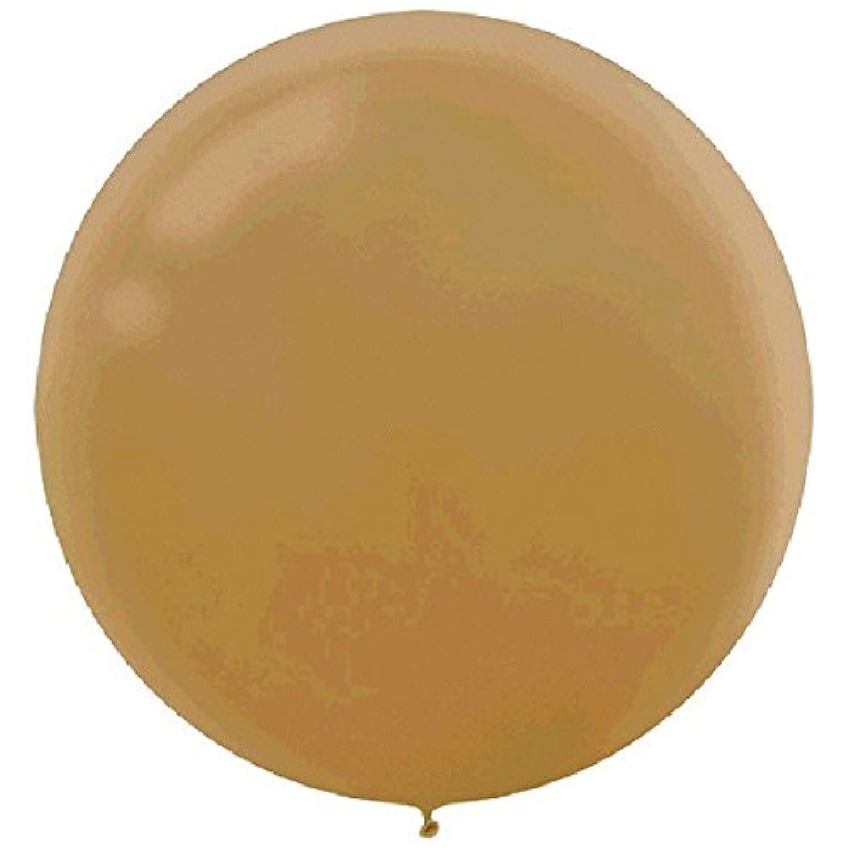 パーティーPerfect真珠色ラテックスバルーンデコレーション、ゴールド、24インチ、4のパック