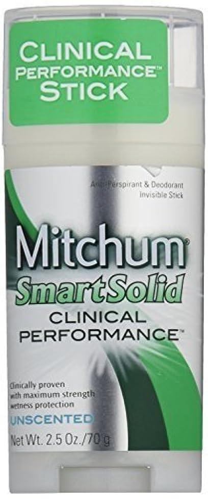 アルプス旅行者敵Mitchum Smart Solid Clinical Performance Unscented 75 ml [並行輸入品]