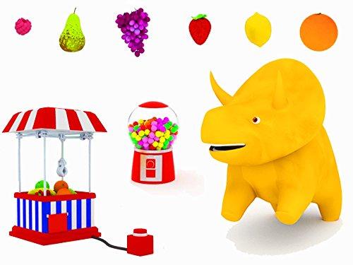 フルーツクレーンマシン:恐竜のダイノと一緒に果物を学ぼう & ボールとトランポリン:恐竜のダイノと一緒に乗り物を学ぼう