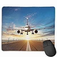 マウスパッド、ステッチエッジ付きマウスパッド、飛行機用滑り止めラバーベースゲーミングマウスパッド