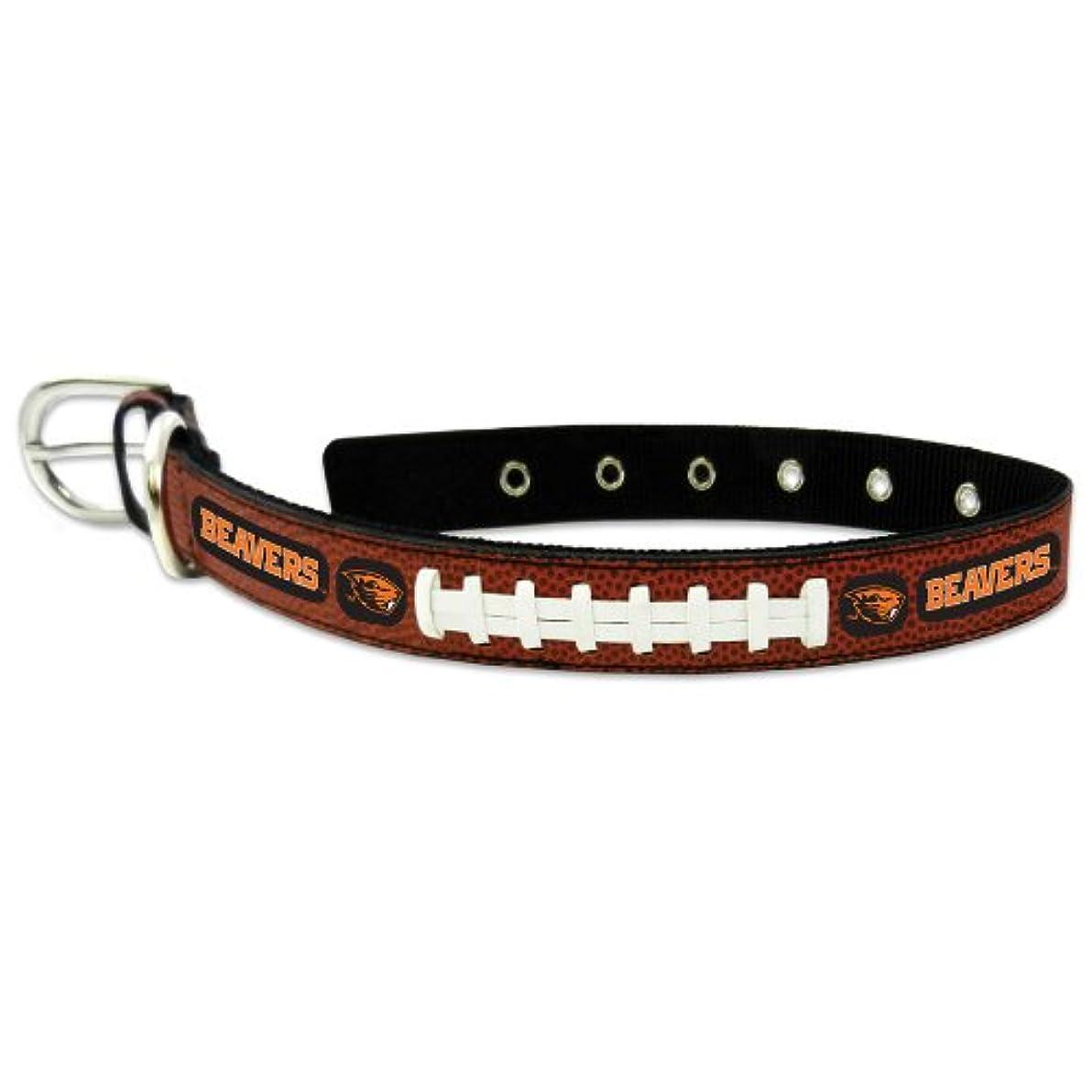 レパートリーベーリング海峡宣言Oregon State Beavers Classic Leather Medium Football Collar