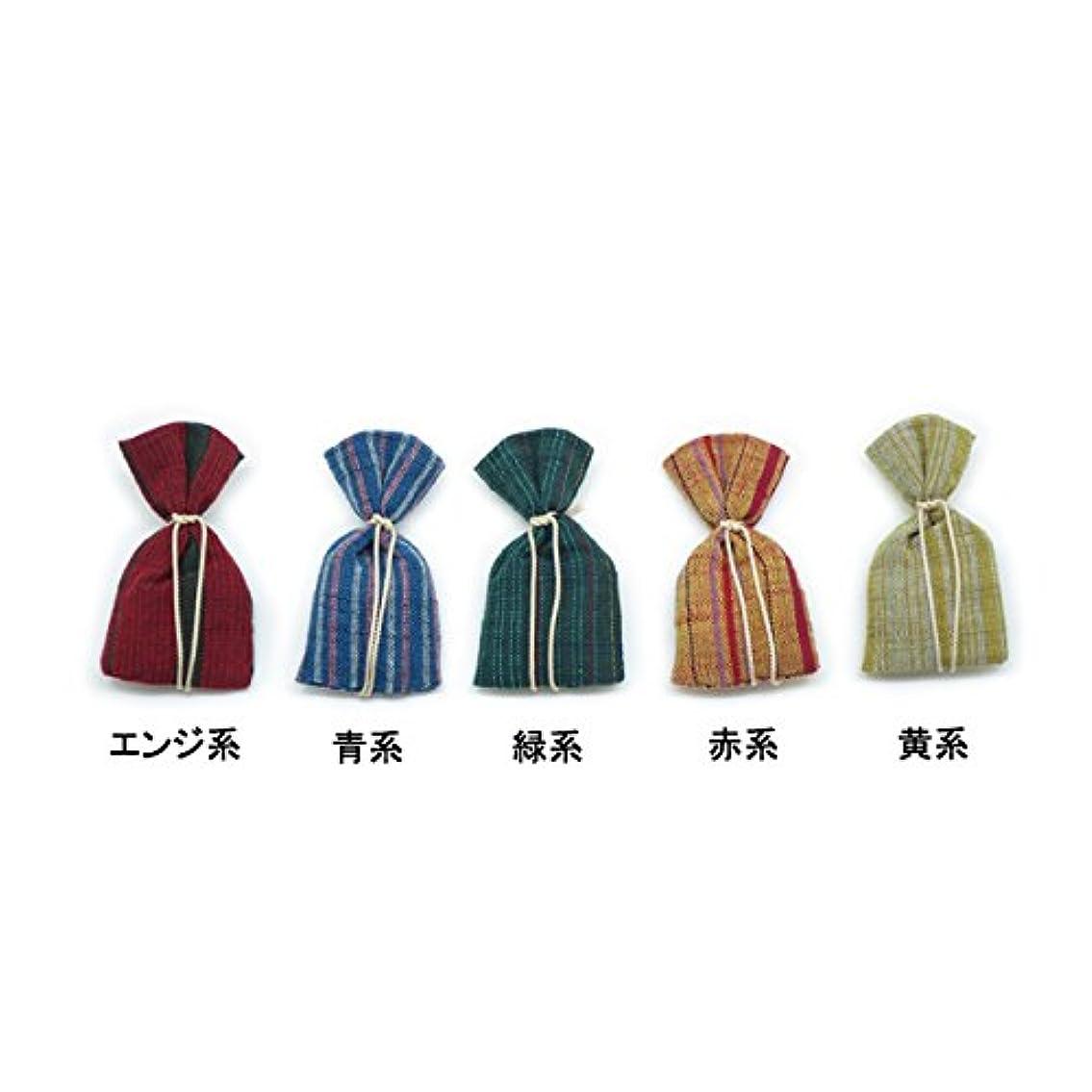 懐疑的競争力のある複雑な匂袋 会津木綿巾着 (青系)