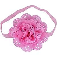 (コ-ランド) Co-land ベビー ヘアバンド お花 髪飾り 赤ちゃん ヘッドバンド 女の子 お姫様 ヘアアクセサリー 出産祝い 結婚式 ピンク