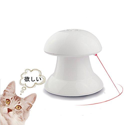 猫おもちゃ 猫用光るおもちゃ 自動的に回転できる LEDポインター じゃれ猫 猫じゃらし トレーニング ペット用品