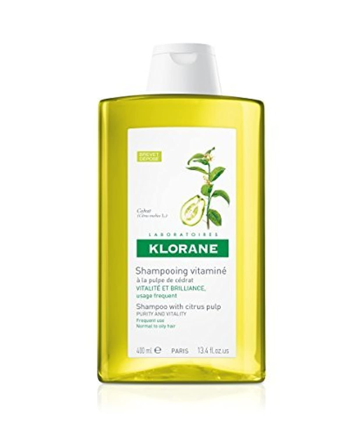 コーラス畝間濃度Shampoo with Citrus Pulp, 13.4 oz by Klorane [並行輸入品]