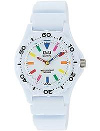 [シチズン キューアンドキュー]CITIZEN Q&Q 腕時計 スポーツタイプ アナログ表示 10気圧防水 ホワイト×マルチカラー VR25-002 レディース