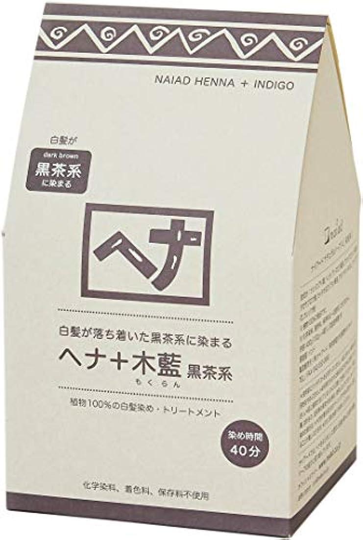印象的移行する構成Naiad(ナイアード) ヘナ+木藍 黒茶系 400g