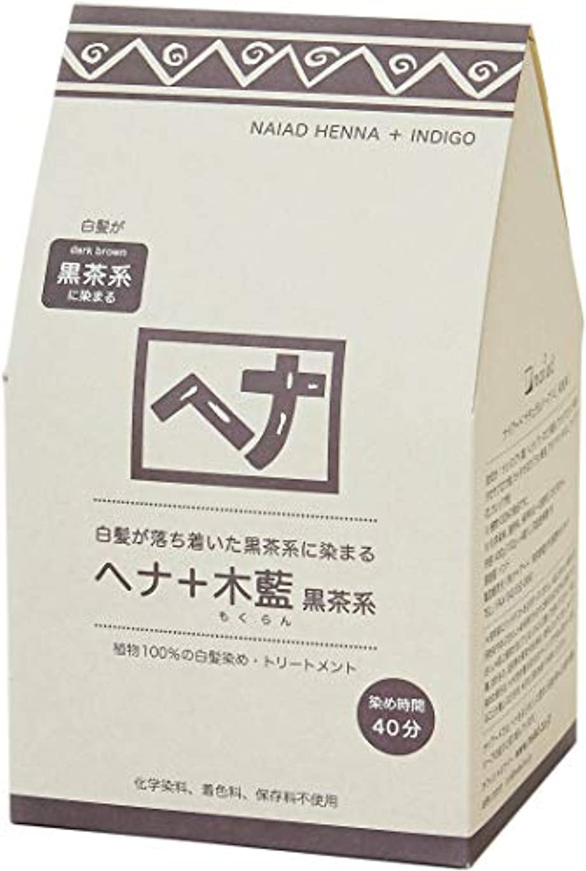 リファインフェローシップ過度にNaiad(ナイアード) ヘナ+木藍 黒茶系 400g