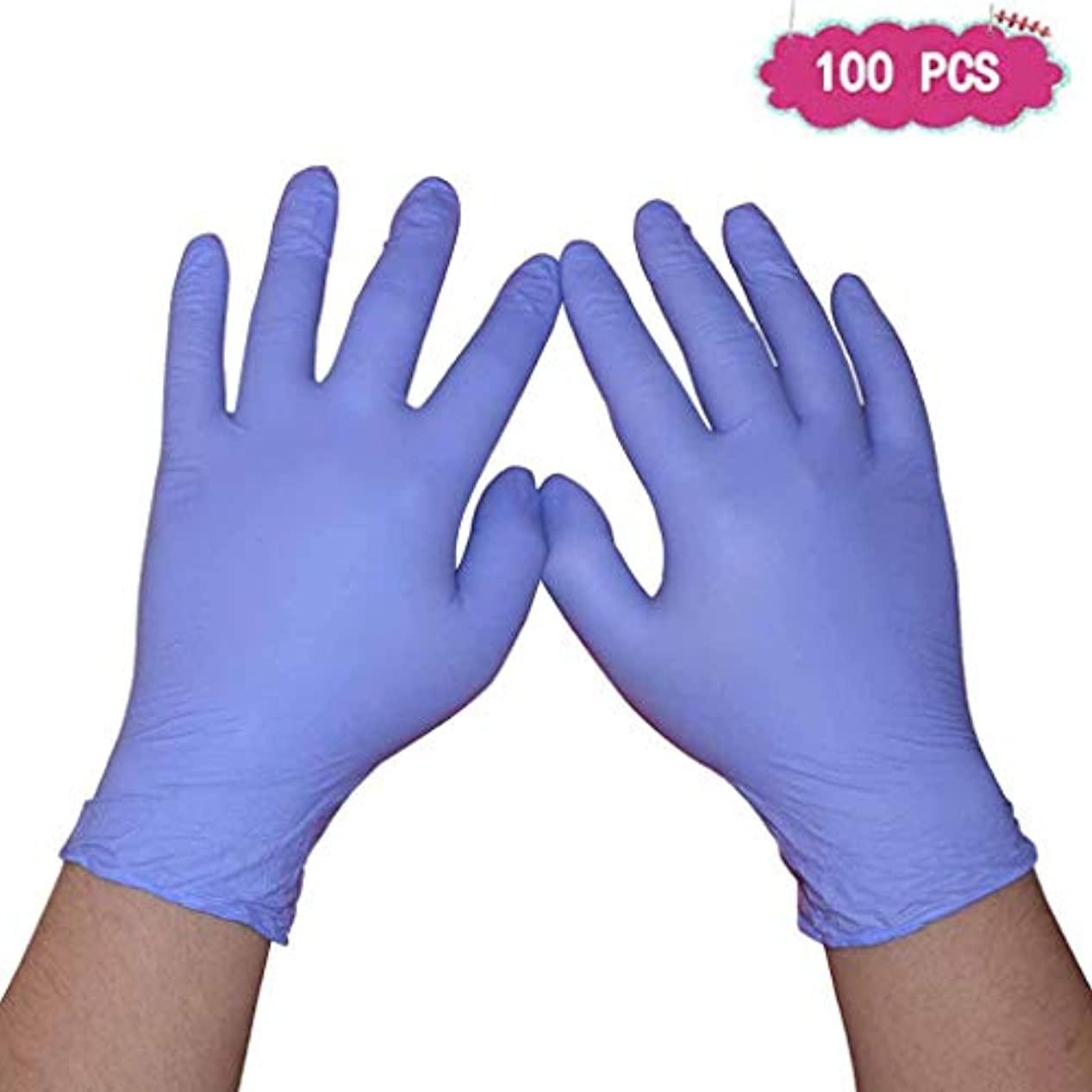 自発宣言する追記ニトリル手袋9インチパープルラテックスフードキッチンケータリングケータリングとアルカリ義務試験手袋|病院、法執行機関向けのプロフェッショナルグレード (Size : XL)