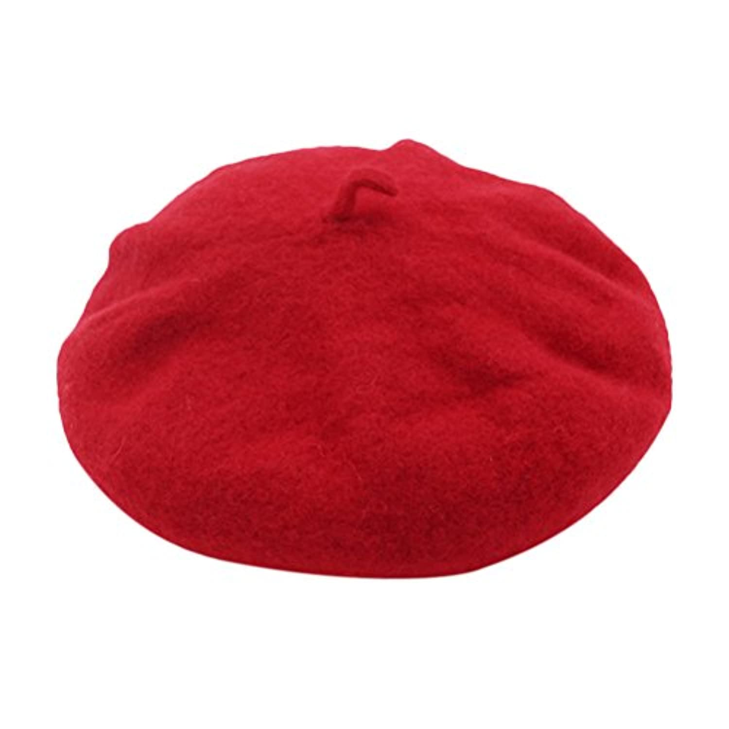 Zhhlinyuan クラシック French artist Solid color Plain Beret Hat Autumn 冬の Womens ビンテージ One Size Bowler キャップ