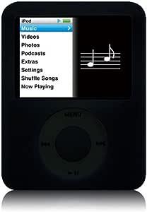 Simplism iPod nano(3rd)用シリコンケース(ブラック) TR-SCNN3-BK