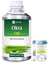 Okra (Abelmoschus esculentus) 100% Natural Pure Essential Oil 5000ml/169fl.oz.