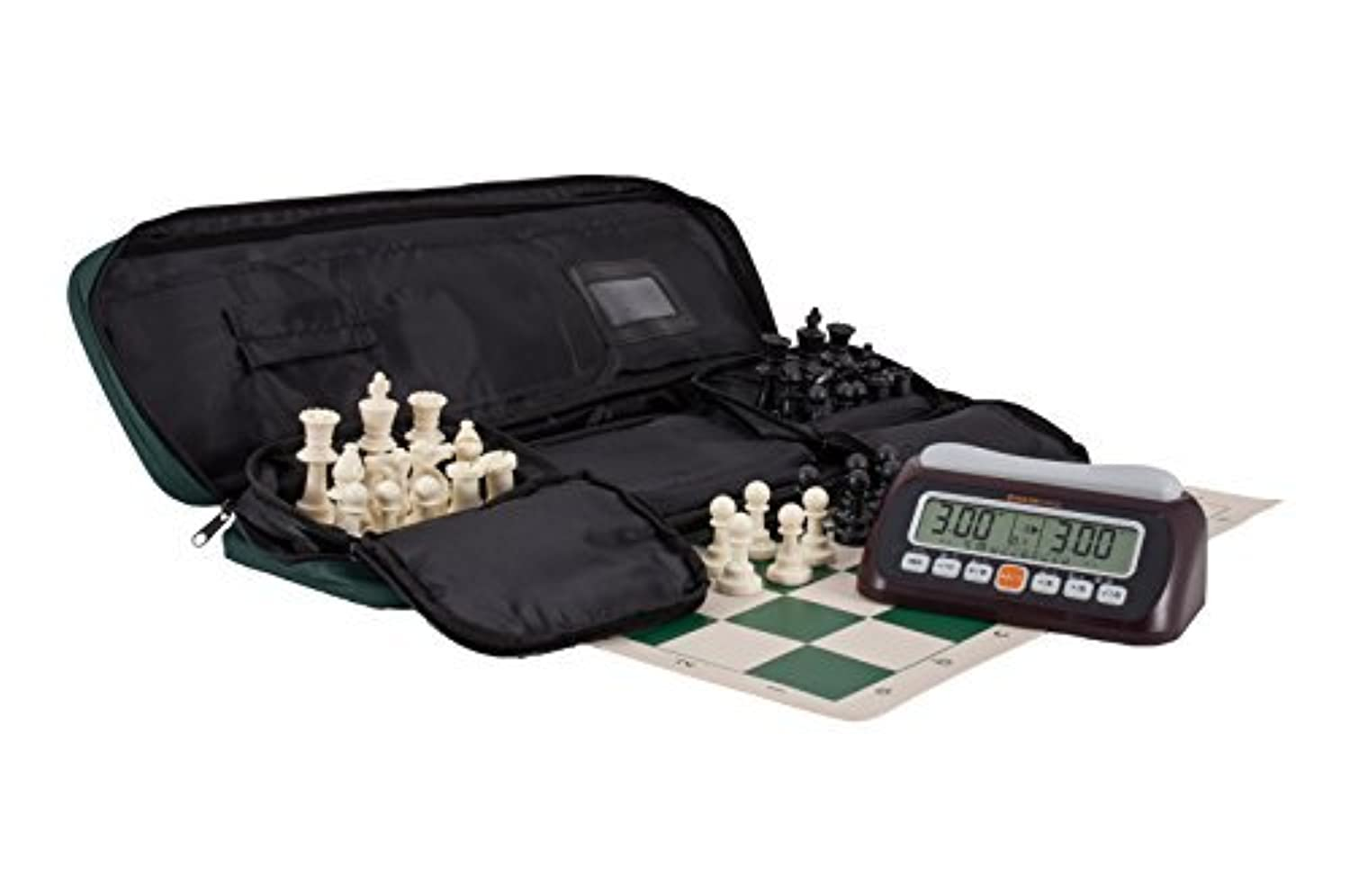 Deluxe Omcor Game Timer 960 Chess Set Combination by