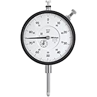 Mitutoyo 3416S Dial Indicator, #4-48 UNF Thread, 0.375 Stem Dia., Lug Back, White Dial, 0-100 Reading, 3.071 Dial Dia., 0-1 Range, 0.001 Graduation, +/-0.002 Accuracy by Mitutoyo