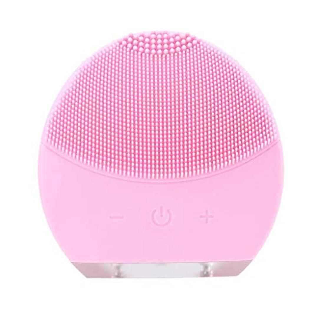 余韻追い出す通り超音波振動美容機器洗浄器、皮膚の毛穴を最小限に抑えるマイクロダーマブレーション毛穴、USB 充電と防水,Pink