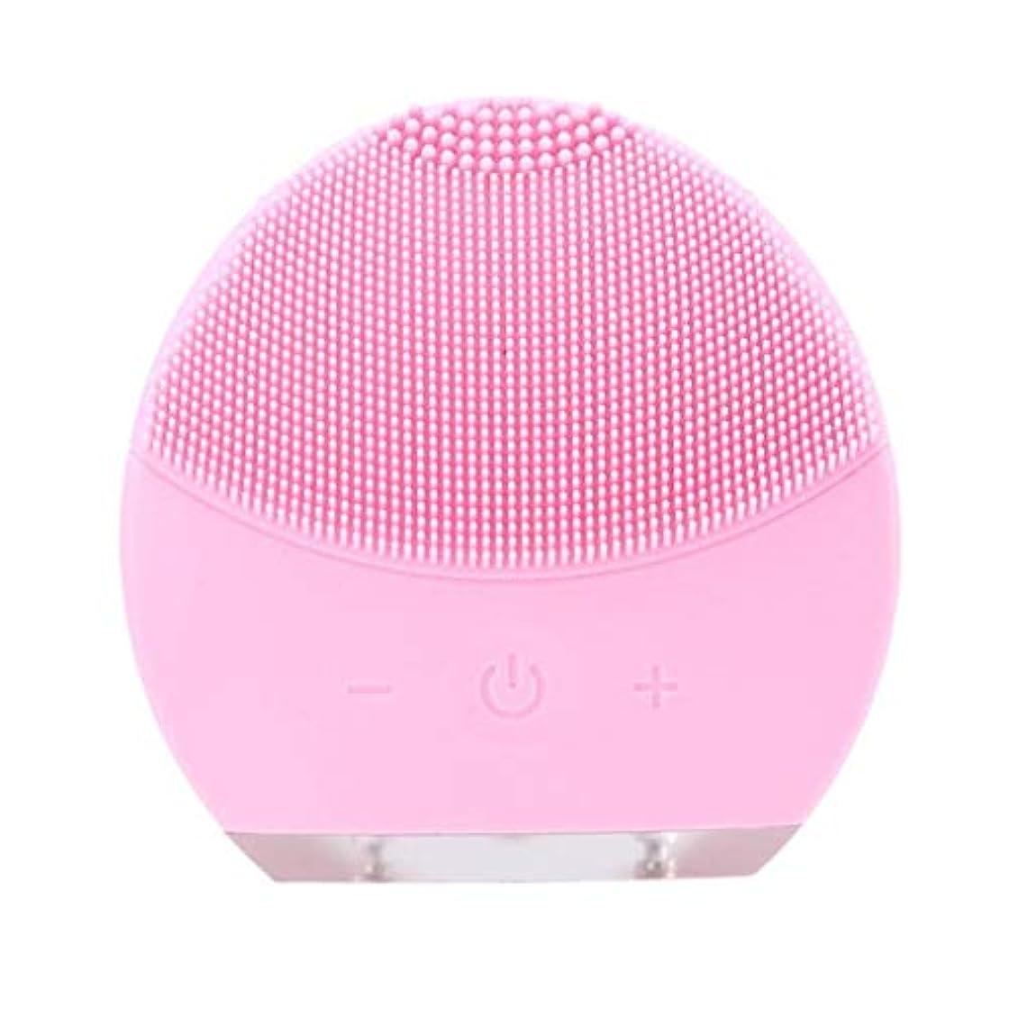 許す震える拒否超音波振動美容機器洗浄器、皮膚の毛穴を最小限に抑えるマイクロダーマブレーション毛穴、USB 充電と防水,Pink