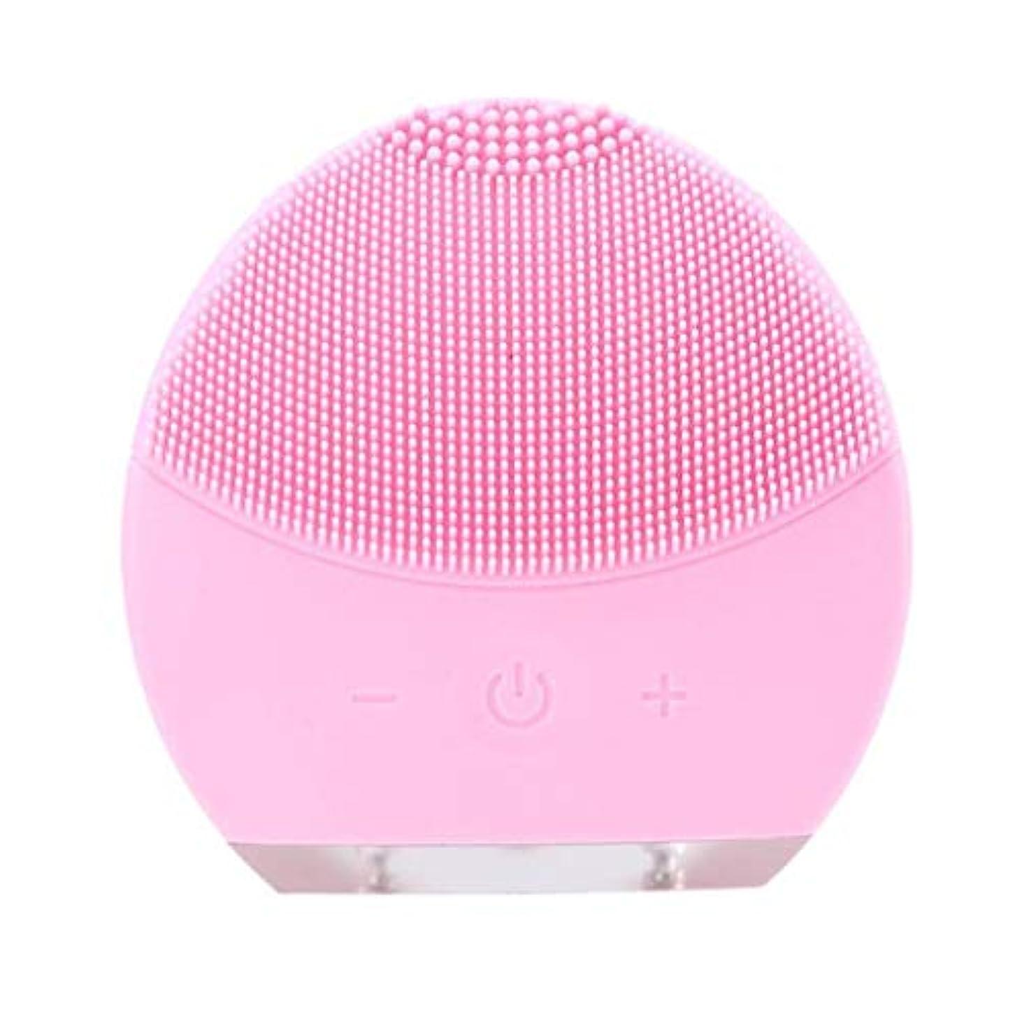 反逆者暗殺者刺す超音波振動美容機器洗浄器、皮膚の毛穴を最小限に抑えるマイクロダーマブレーション毛穴、USB 充電と防水,Pink