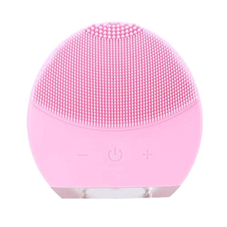 実質的発揮する伝統超音波振動美容機器洗浄器、皮膚の毛穴を最小限に抑えるマイクロダーマブレーション毛穴、USB 充電と防水,Pink