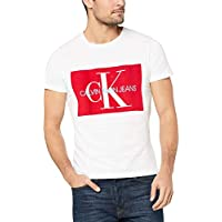Calvin Klein Jeans Men's Monogram Box Logo T-Shirt, White