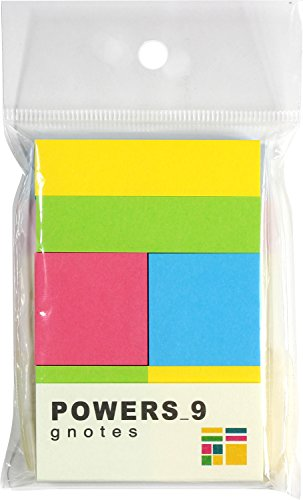 [해외]프린트 인 양식 재팬 메모 강 점착 POWERS_9 4 색 9 개들이/Print inform Japan Sticky note Strong adhesive POWERS_ 9 4 colors 9 pieces