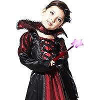 GearD(ギアード) ハロウィン 衣装 子供 吸血鬼 ドラキュラ 女の子 コスプレ 仮装 パーティ (L:120-130cm)