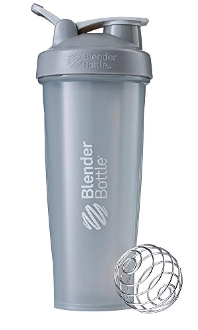 楽しい実験冒険家BlenderBottle Classic ブレンダーボトル クラシック Shaker Bottle 32-Ounce Loop Top PEBBLE GREY CLSC32LOOP