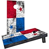 Custom Cornhole Boards CCB1210-AW Worn National (Panama) Flag Cornhole Boards [並行輸入品]