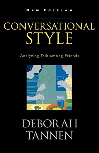 [画像:Conversational Style: Analyzing Talk Among Friends]