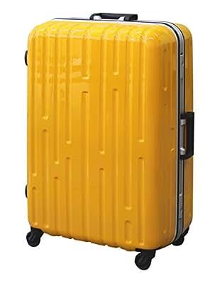 【1年保証付】超軽量 フレーム スーツケース 9046 中型 イエロー