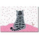 猫の足あと ポストカード 「さくらさくら(うしろ姿)」